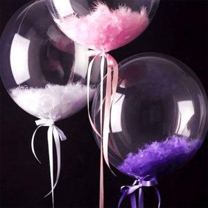 Шар баблс с шариками