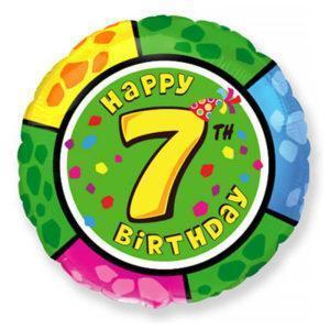 Фольгированный шар круг «Цифра 7»