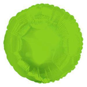 Фольгированный шар круг, Лайм