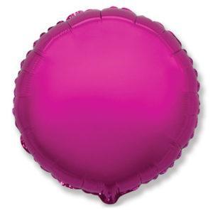 Фольгированный шар круг, Пурпурный