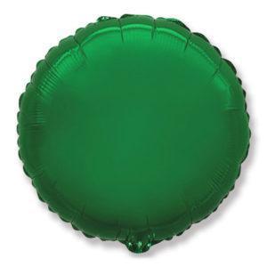 Фольгированный шар круг, Зеленый