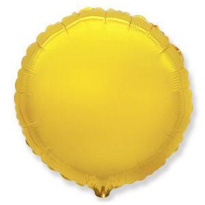 Фольгированный шар круг, Золото