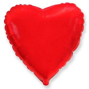 Фольгированный шар сердце, Красный