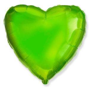 Фольгированный шар сердце, Лайм