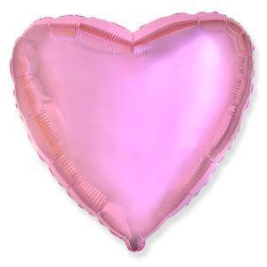 Фольгированный шар сердце, Светло-розовый