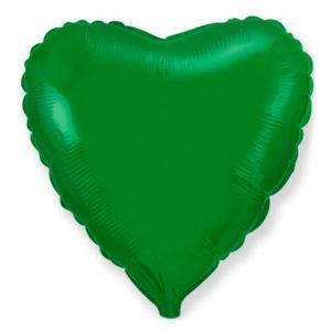 Фольгированный шар сердце, Зеленый