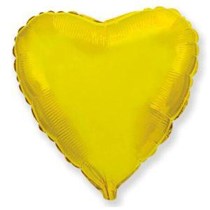 Фольгированный шар сердце, Золото