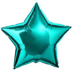 Фольгированный шар звезда, Бирюзовый