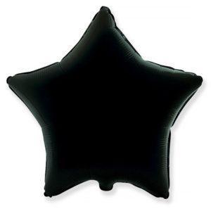 Фольгированный шар звезда, Черный