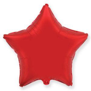 Фольгированный шар звезда, Красный