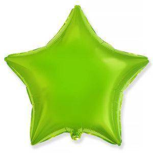Фольгированный шар звезда, Лайм