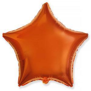 Фольгированный шар звезда, Оранжевый