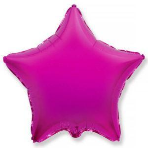 Фольгированный шар звезда, Пурпурный