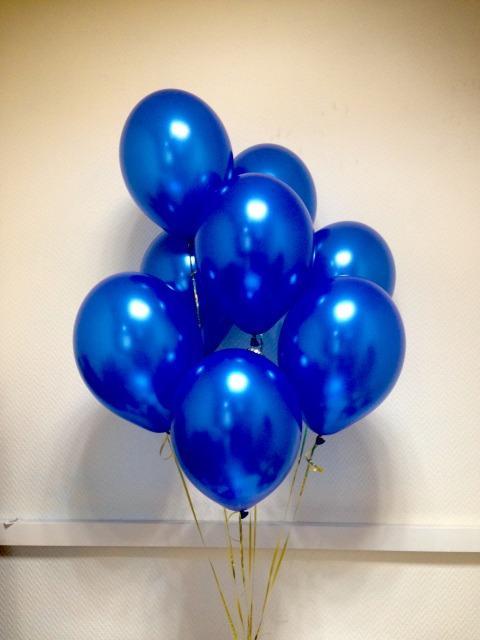 шары синий металлик