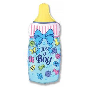 Шар Фигура «Бутылочка для мальчика»