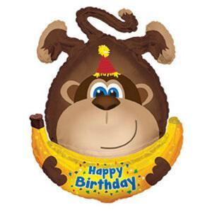 Шар Фигура «Обезьянка с днем рождения»