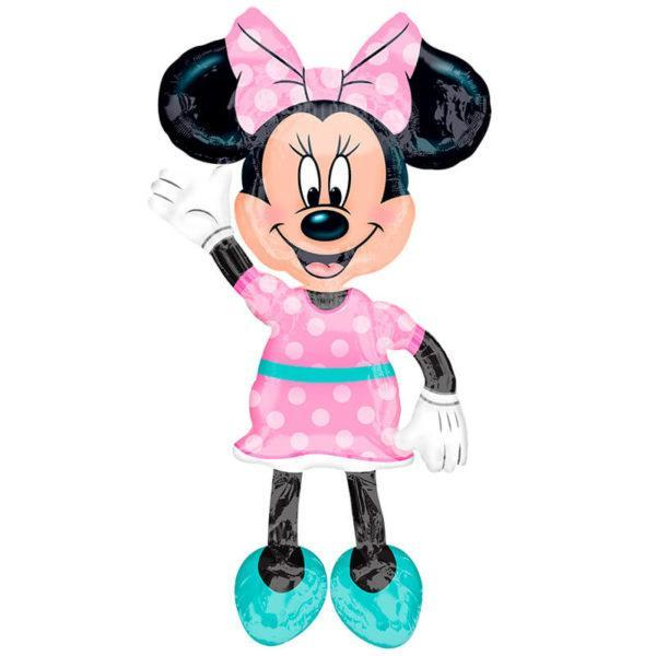 Шар Ходячая Фигура «Минни. Розовое платье»