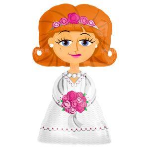 Шар Ходячая Фигура «Невеста»
