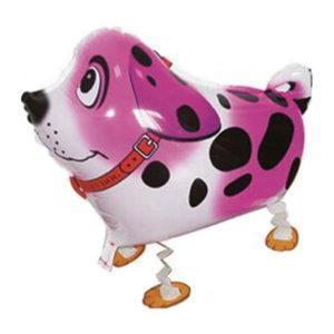 Шар Ходячая Фигура «Собака далматин, Розовый»