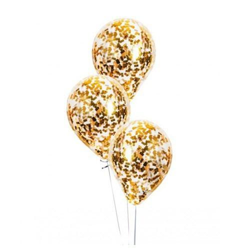 Шар с конфетти «Квадраты золотые»
