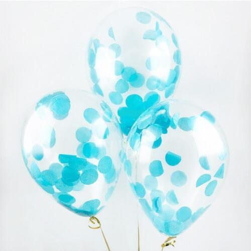 Шары с конфетти «Голубые круги»