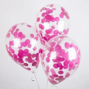 Шары с конфетти «Розовые круги»