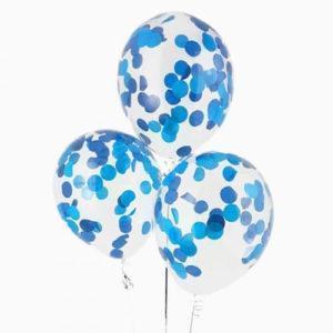 Шары с конфетти «Синие круги»