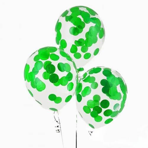 Шары с конфетти «Зеленые круги»