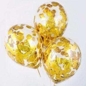 Шары с конфетти «Золотые круги»