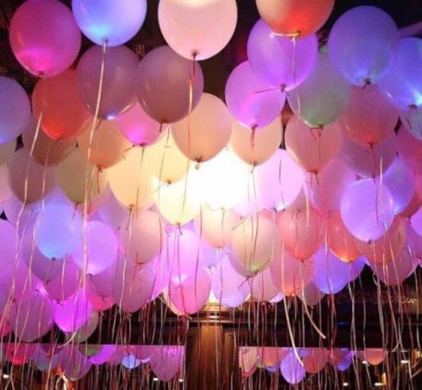 Светящиеся белые шары с цветными диодами