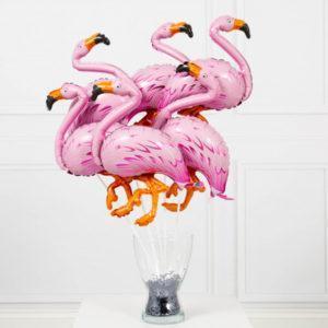 Мини фигура Розовый Фламинго на палочке
