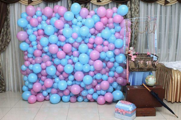 Панно(стена) из шариков №1