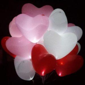 Светящиеся сердца «МИКС»