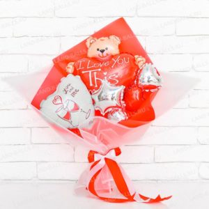 Букет из мини шаров «Любовное послание»